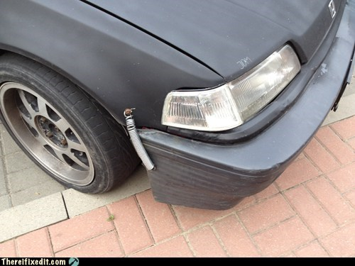 bumper,bumper fix,car fail,car fix,spring