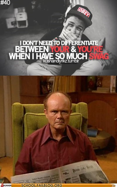 red foreman,stop saying swag,swag,you-and-youre