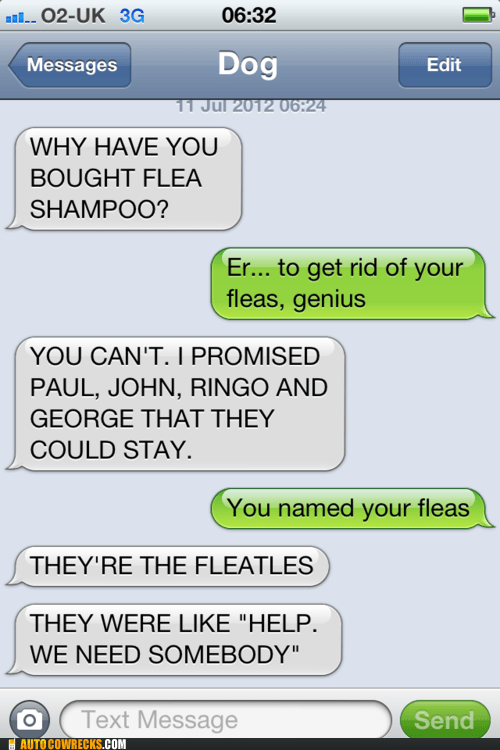 fleas George Hall of Fame john Paul Ringo texts from dog the Beatles the Fleatles