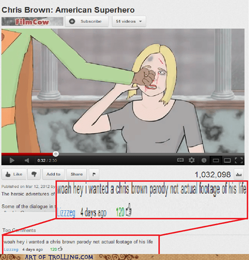 chris brown domestic abuse top comment youtube - 6423249920