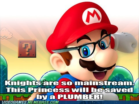 hipster mario plumber princess - 6423422208