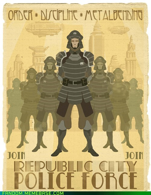 korra Fan Art police recruitment posters - 6423675392