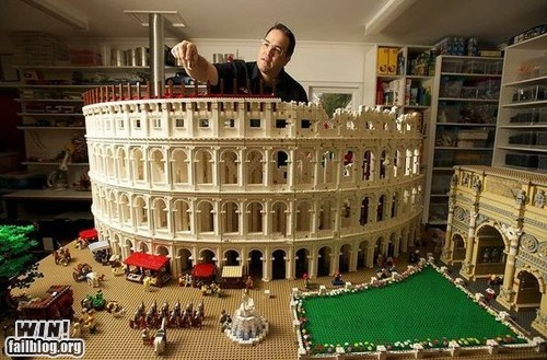 coliseum lego model nerdgasm rome - 6423807744