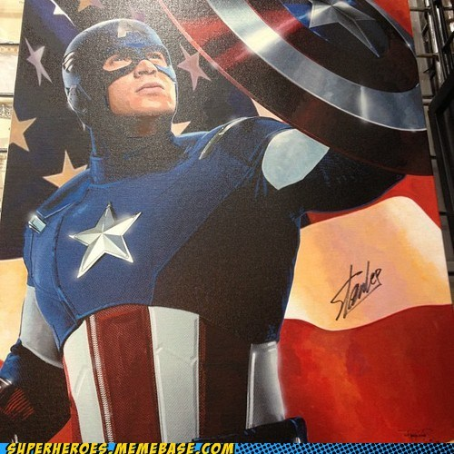 Awesome Art captain america painting sdcc 2012 - 6423851264