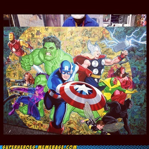 avengers Awesome Art painting sdcc 2012 - 6423859712