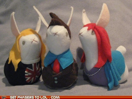 bunnies,craft,cute,David Tennant,doctor who,donna noble,Plush,rose tyler,the doctor