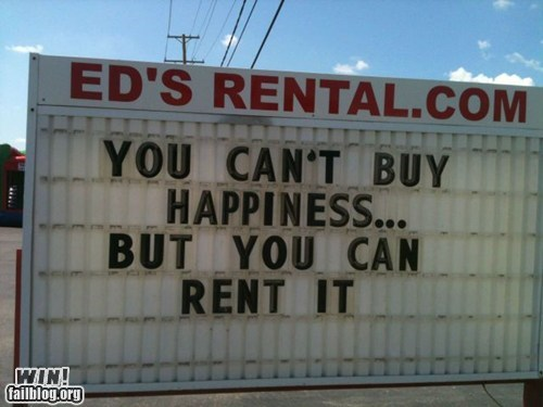 happiness,rental,sign