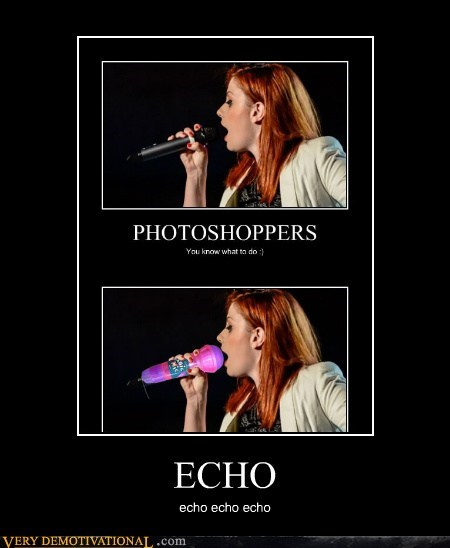 echo hilarious microphone photoshop