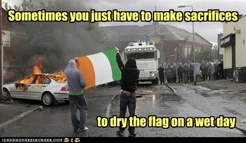 flags Ireland political pictures protesters