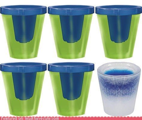 booze cold ice mold shot glasses shots - 6424697344
