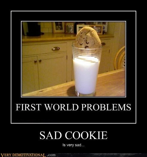 chocolate chips cookies hilarious milk Pareidolia Sad - 6425093376