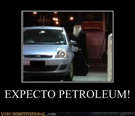 car,gas station,Harry Potter,hilarious,wizard
