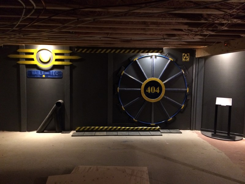 guy designs his basement after as a fallout shelter