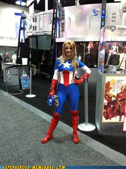 captain america Cosplaying Canine femme marvel sdcc 2012 Super Costume - 6425668608