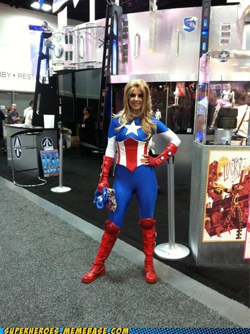 captain america marvel sdcc 2012 Super Costume - 6425668608