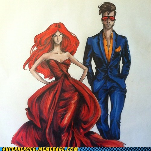 Awesome Art cyclops dark phoenix fashion marvel sdcc 2012 x men - 6426045952