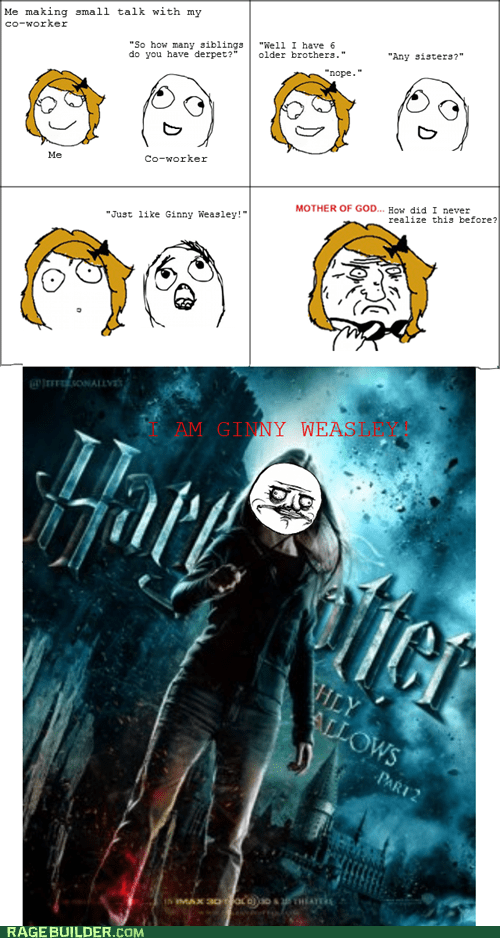 ginny weasley,Harry Potter,me gusta,Rage Comics