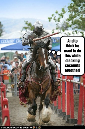 coconuts,horse,joust,knight,monty python and the holy,monty python and the holy grail,saved