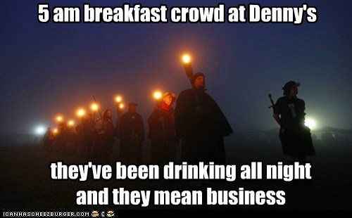 dennys,political pictures,rabble,torches
