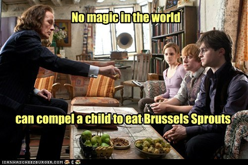 Bill Nighy,brussels sprouts,Daniel Radcliffe,emma watson,Harry Potter,hermione granger,magic,minister of magic,Ron Weasley,rupert grint