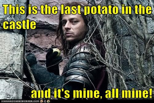 all mine,evil,Game of Thrones,Jaqen H'ghar,last,potato,tom wlaschiha