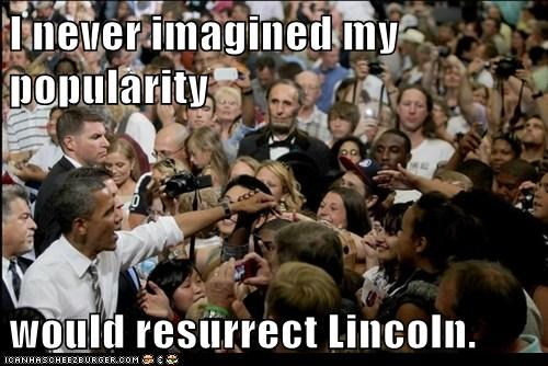 abraham lincoln,barack obama,political pictures