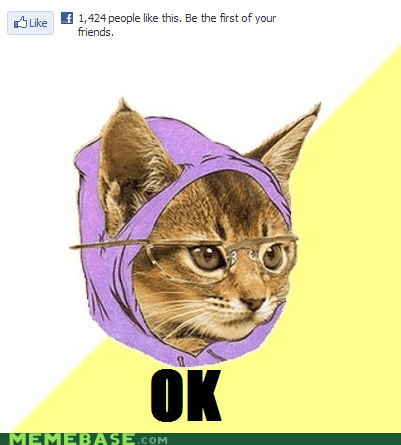 facebook first friends Hipster Kitty ok