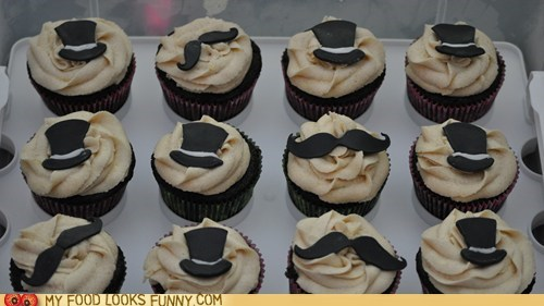 cupcakes mustaches top hats - 6427112704