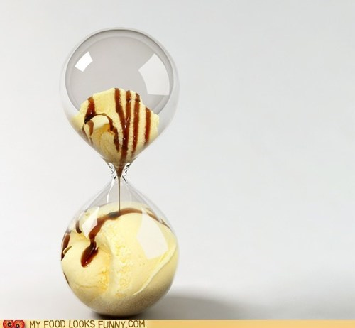 Drip,hourglass,ice cream,time