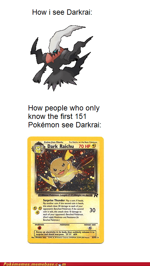 dark raichu darkrai hidden card my favorite card TCG the internets