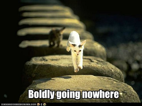Boldly going nowhere