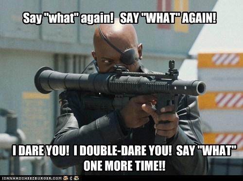 avengers i dare you Nick Fury pulp fiction Samuel L Jackson - 6427773952