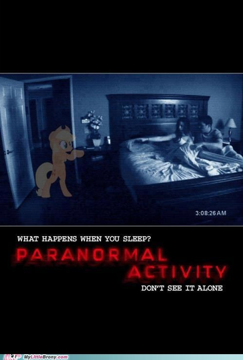 applejack,crossover,ghost,paranormal activity,scary