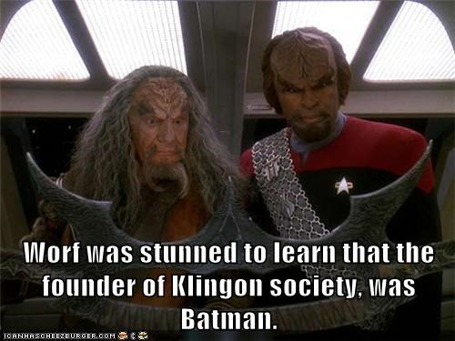 batleth,gadget,klingons,Michael Dorn,Star Trek,the batman,Worf