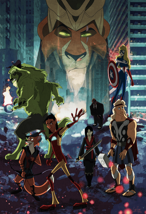 disney,Fan Art,fandom,summer blockbusters,The Avengers