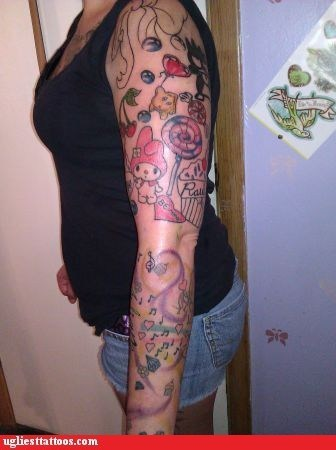 arm tattoos hearts lollipops Music - 6429083136