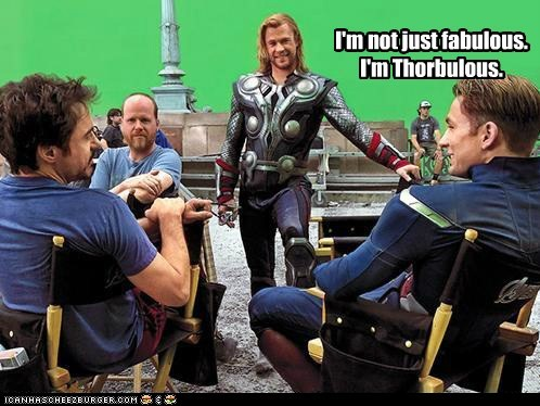 avengers,chris evans,chris hemsworth,fabulous,Joss Whedon,pose,robert downey jr
