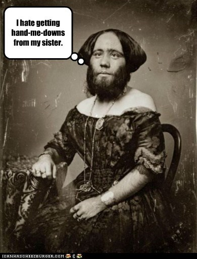 bearded lady,dress,freaksow,sister