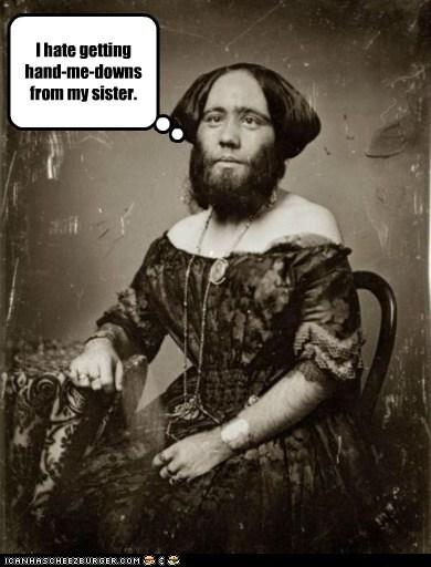 bearded lady dress freaksow sister - 6429311232