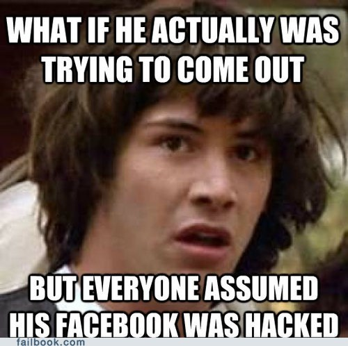conspiracy keanu,gay,hacked,homosexual