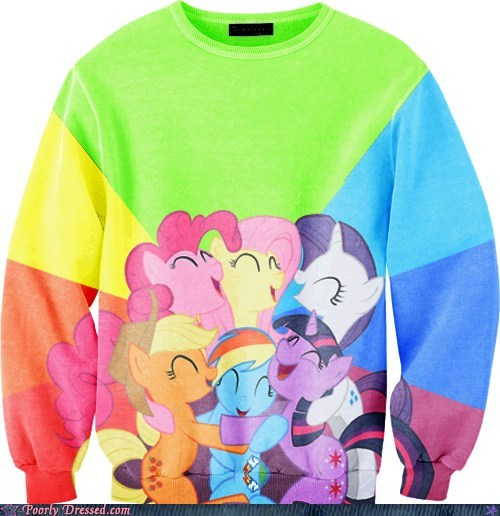 best of week color vomit g rated Hall of Fame MLP my little pony poorly dressed pretty colors sweater - 6429745920