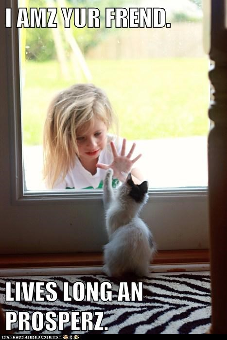 captions Cats door friend kirk live long and prosper Movie reference Spock Star Trek - 6429854208