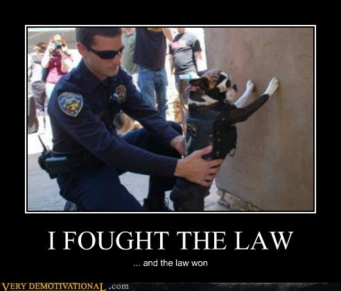 I FOUGHT THE LAW ... and the law won