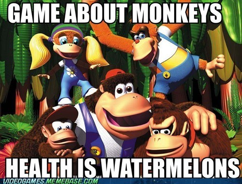 donkey kong 64,meme,monkeys,racist,watermelons