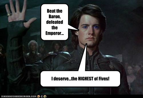 defeated Dune harkonen high five kyle maclachlan paul atreides