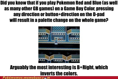 did you know game boy gameplay inverted