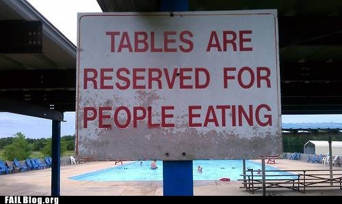 funny signs,people eating,tables,zombie