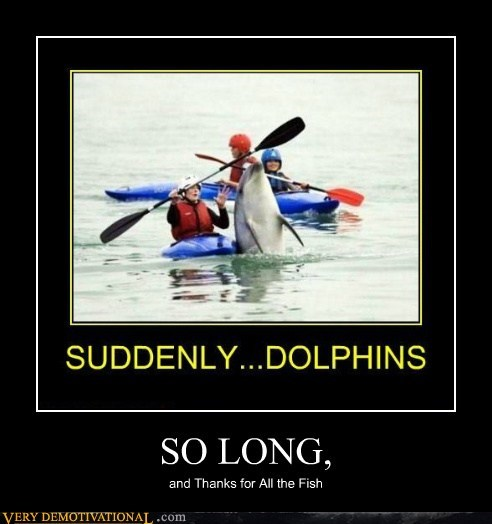 dolphins fish hilarious hitchhikers-guide - 6430701056