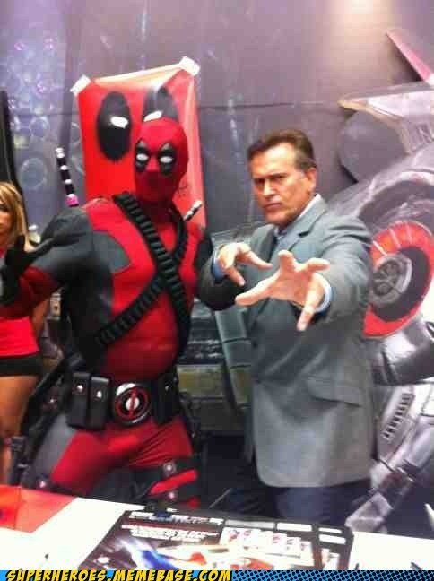 awesome,bruce campbell,deadpool,Random Heroics,sdcc 2012
