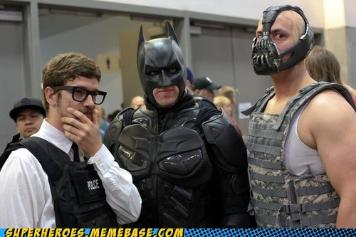 bane batman commissioner gordon Dark Knight Rises sdcc 2012 Super Costume - 6430712576